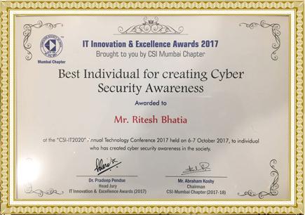 Ritesh Bhatia, Mumbai - Cybercrime investigations Expert